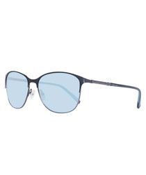 Blue & silver rounded sunglasses