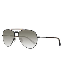 Black & grey aviator sunglasses