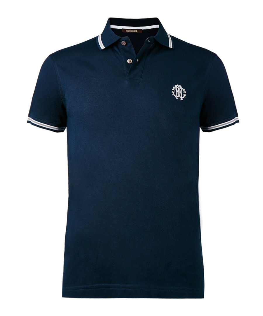 e8d442f01b Navy pure cotton polo shirt Sale - ROBERTO CAVALLI