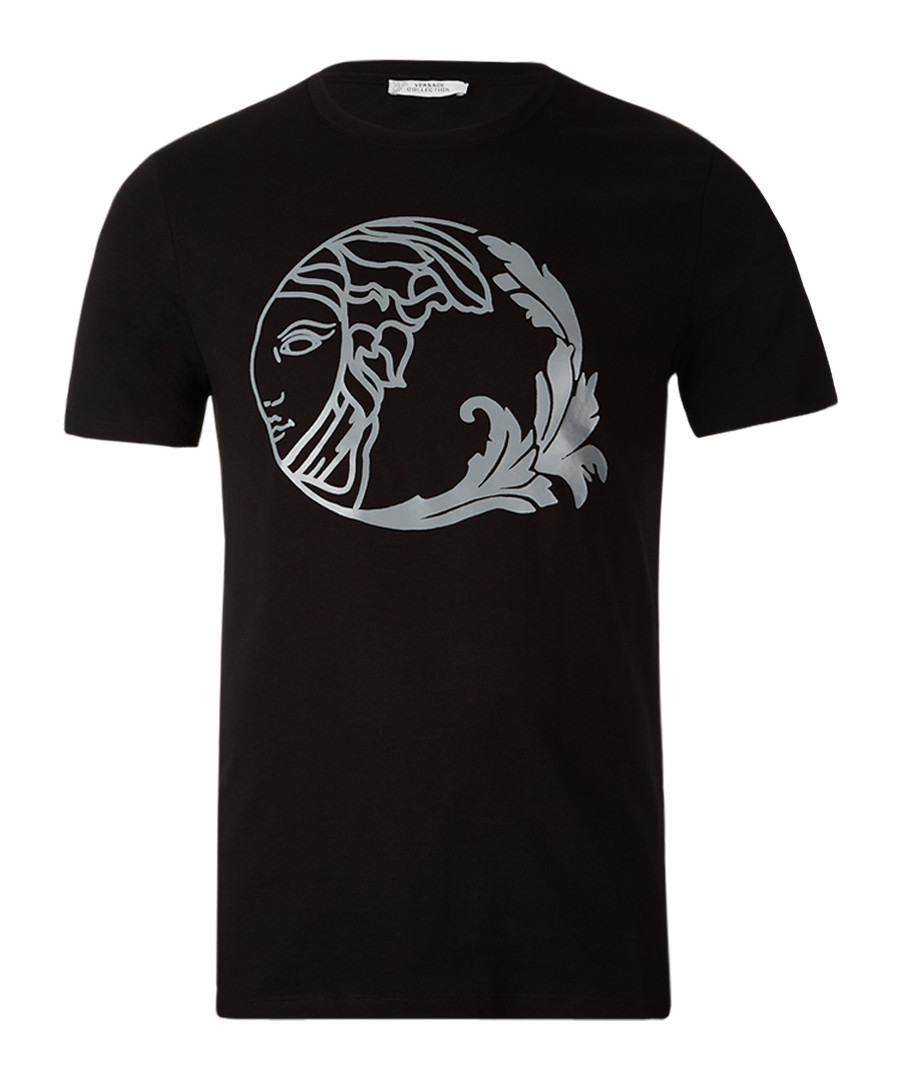 Black pure cotton print T-shirt Sale - versace collection
