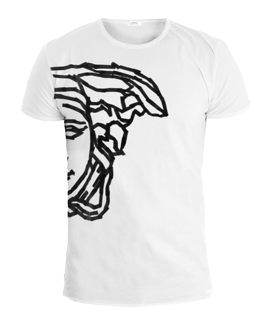 White pure cotton T-shirt Sale - versace collection
