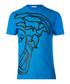 Sax blue pure cotton print T-shirt Sale - versace collection Sale