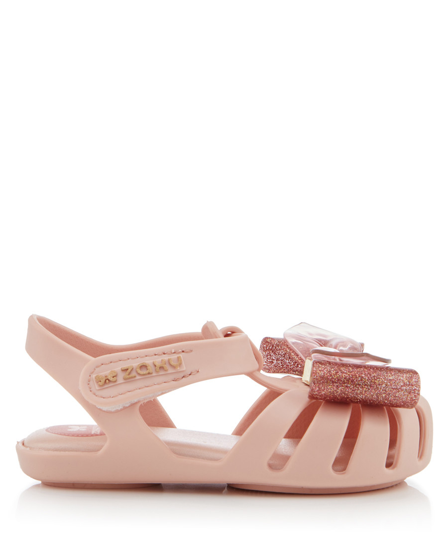Girl's Glamour Bow blush sandals Sale - zaxy