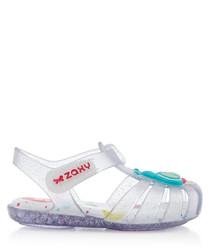 Girl's Beestar clear glow sandals