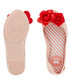 Girl's Blossom blush & red ballet flats Sale - zaxy Sale