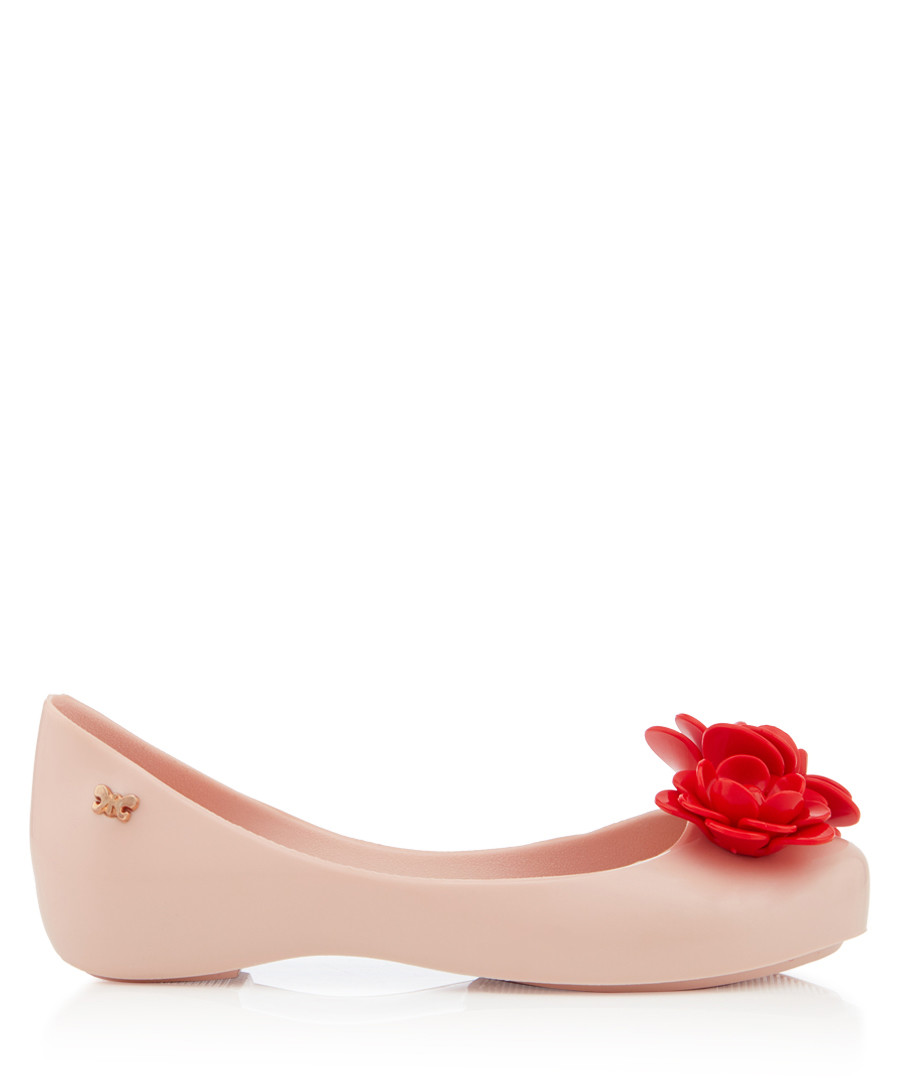 Girl's Blossom blush & red ballet flats Sale - zaxy