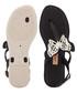 Sense black butterfly T bar sandals Sale - grendha Sale