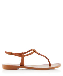 Acaii tan T-bar sandals