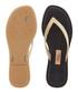 Sense gold metallic & black flip flops Sale - grendha Sale