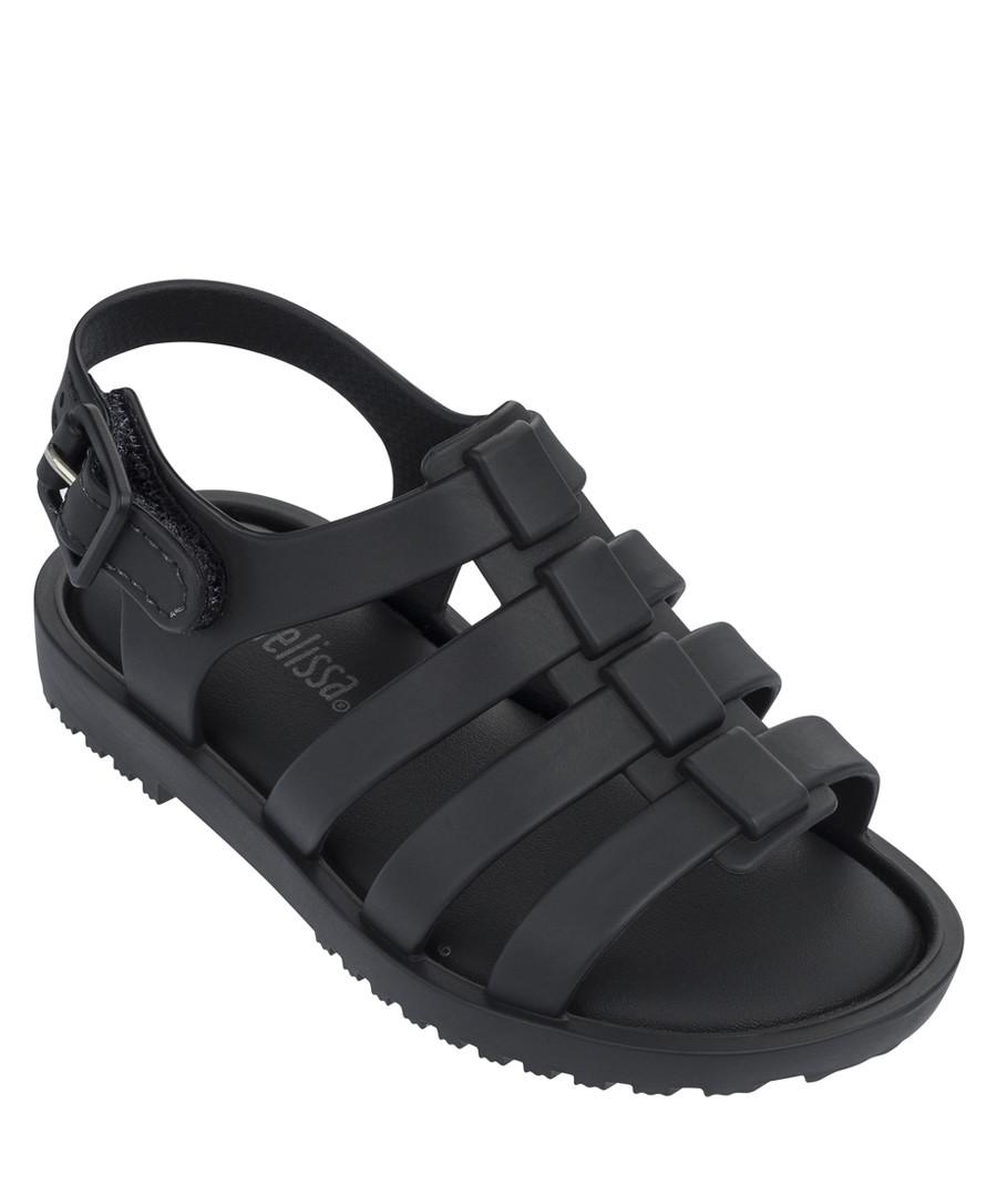 Girls' Mini Flox black cage sandals Sale - mini melissa