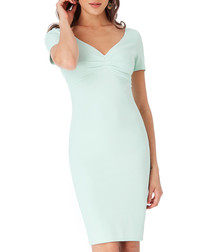 Mint short sleeve pencil dress