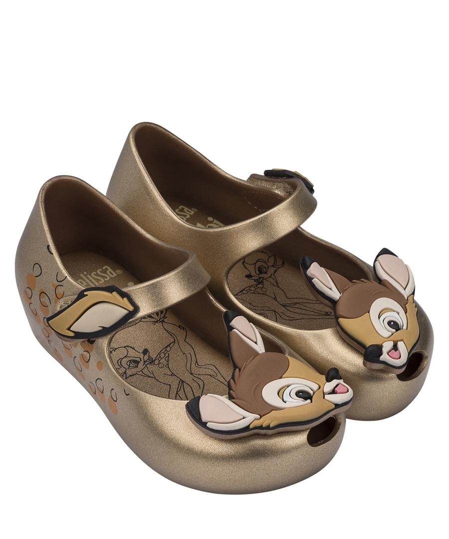 Girl's Mini Ultragirl gold bambi shoes Sale - mini melissa