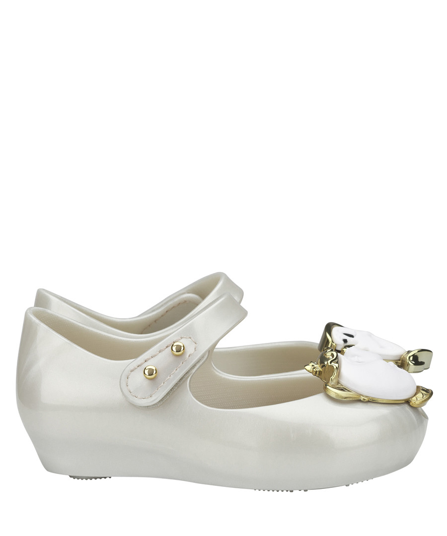 Girl's Mini Ultragirl white teacup shoes Sale - mini melissa