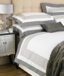 Cambridge taupe cotton king duvet set