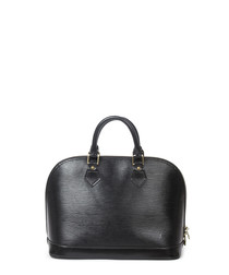 Alma black leather grab bag
