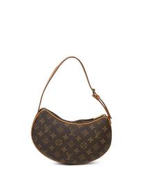 Croissant brown monogram shoulder bag