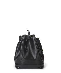 Noe black leather bucket bag