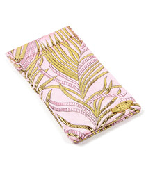 Pink pure silk print glasses case