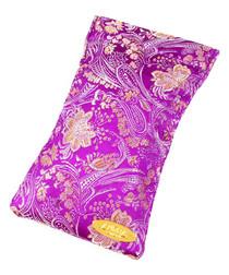 Purple pure silk print glasses case