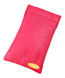 Berry snap-top glasses case