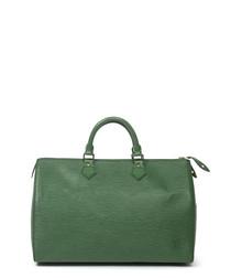 Speedy green leather grab bag