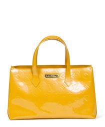 Wilshire yellow monogram grab bag