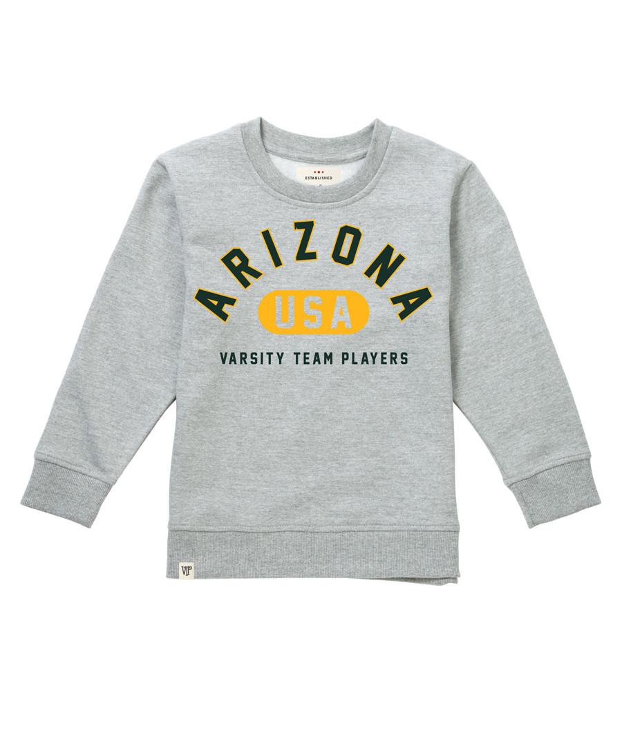 Girl's Arizona grey cotton blend jumper Sale - Varsity Team Players