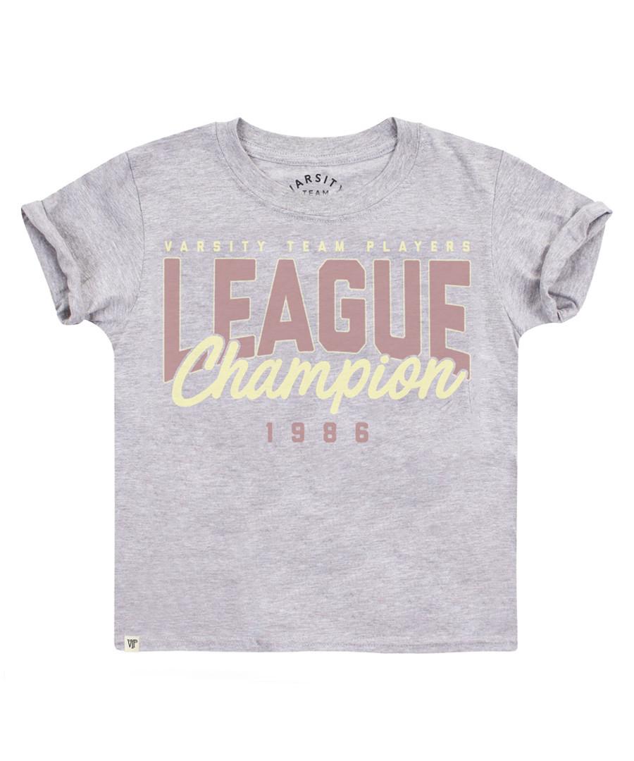 Girl's League Champ grey cotton T-shirt Sale - Varsity Team Players