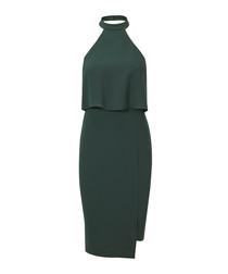 The City teal high-neck sleeveless dress