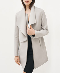 Dover pebble zip-up coat