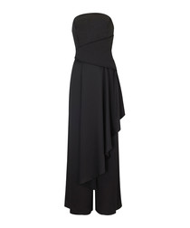 Monument black strapless jumpsuit