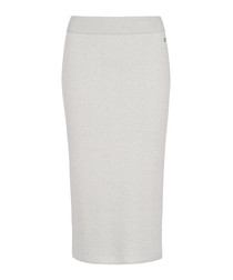 Soho grey cotton blend pencil skirt