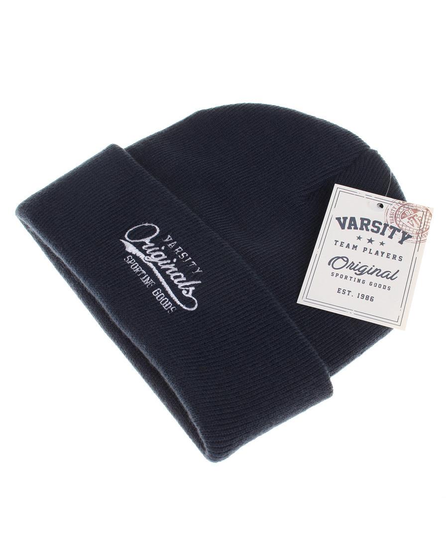 Men's navy knit logo beanie Sale - Varsity Team Players