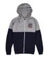Men's navy & grey cotton hoodie Sale - Varsity Team Players Sale