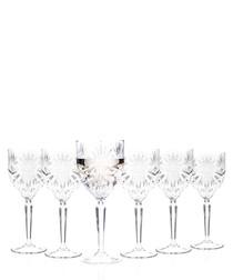 6pc Oasis wine glasses set