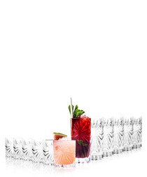 12pc Oasis crystal tumbler & hi-ball set