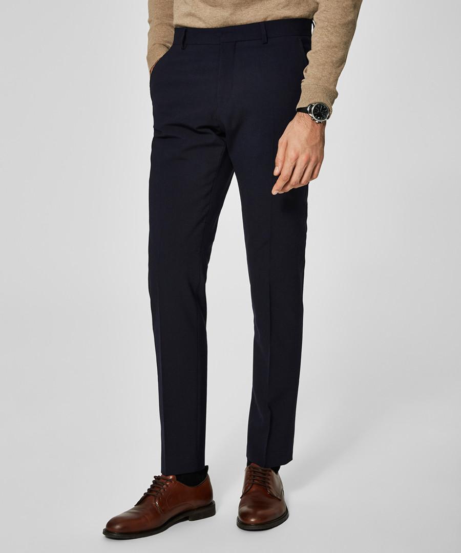 Dark navy wool blend trousers Sale - SELECTED HOMME