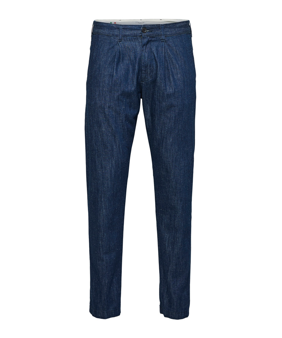 Blue cotton blend jeans Sale - SELECTED HOMME