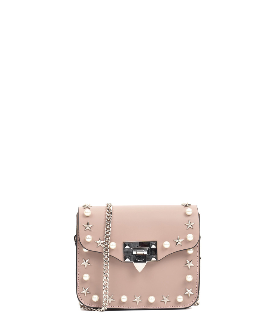 dc7fd0560eb3 Light pink leather studded shoulder bag Sale - Anna Luchini