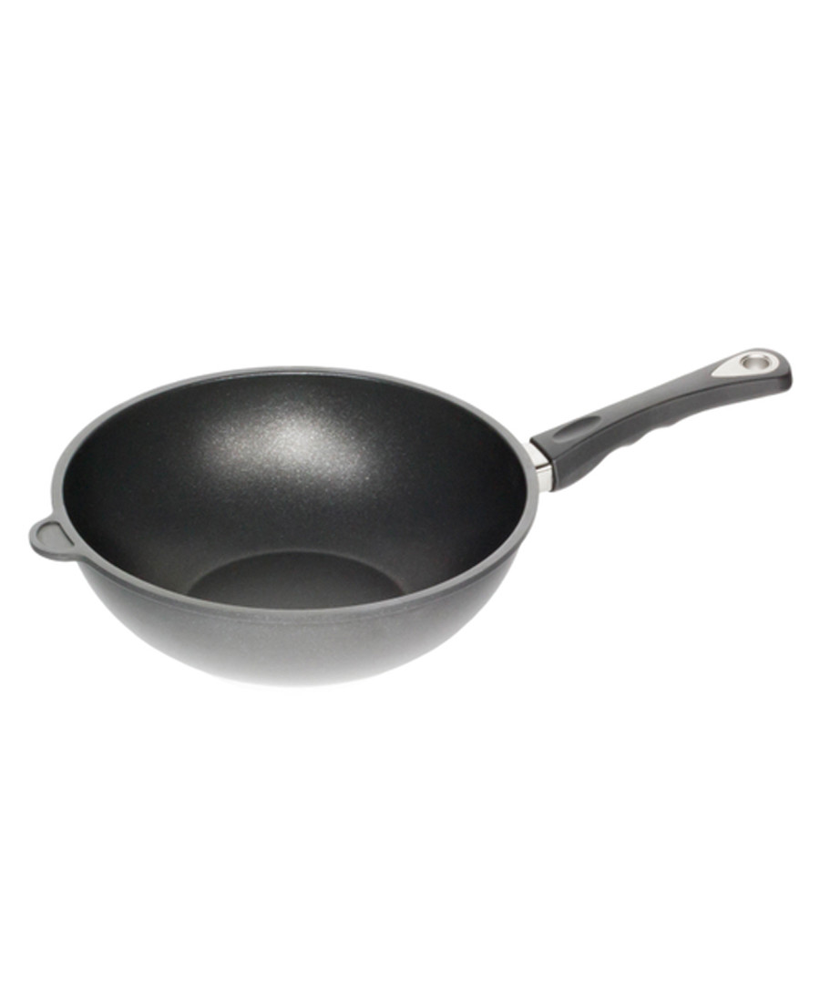Black aluminium wok 28 x 11cm Sale - World's Best Pan