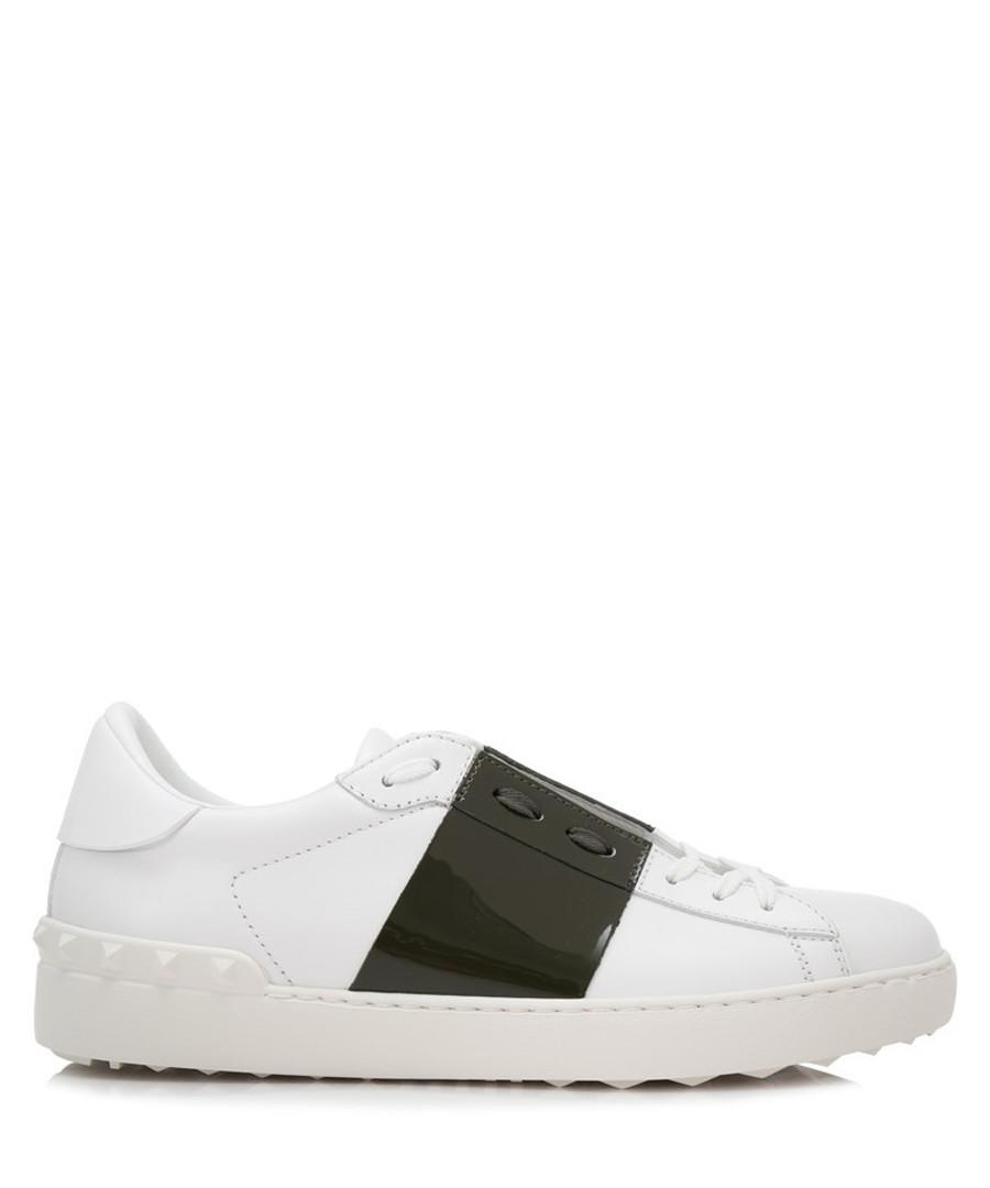 Men's white & black leather sneakers Sale - valentino