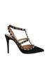 Women's Rockstud black leather heels Sale - valentino Sale