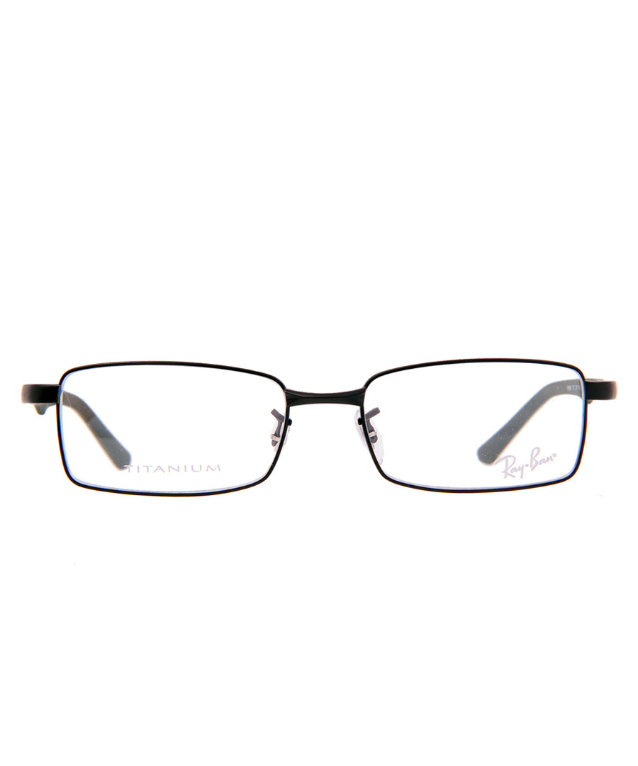 Rectangle black thin frame glasses Sale - ray-ban