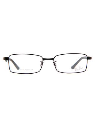 8d81cb9407e RAYBAN. Rectangle black thin frame glasses