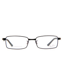 Rectangle black thin frame glasses