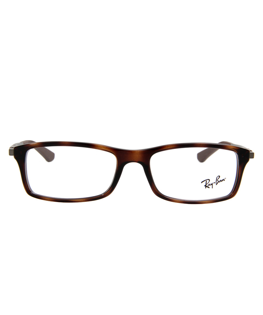 Rectangle tortoiseshell glasses Sale - ray-ban
