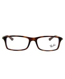 Rectangle tortoiseshell glasses
