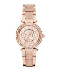 Parker rose gold-tone crystal watch
