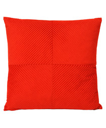 Infinity red cushion cover