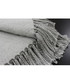 Chiltern grey tassel throw 127 x 180cm Sale - riva paoletti Sale